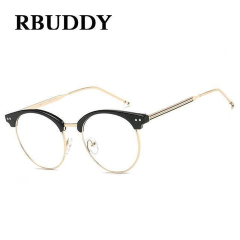 Planet Gates R1 Transparent Glasses Fake Computer Reading Glasses Clear Lens Men Women Optical Eyewear Metal Eyeglasses