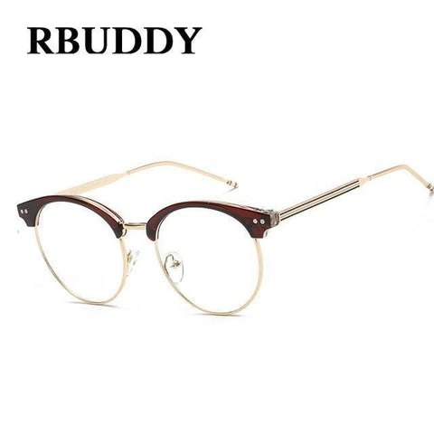 Planet Gates R3 Transparent Glasses Fake Computer Reading Glasses Clear Lens Men Women Optical Eyewear Metal Eyeglasses