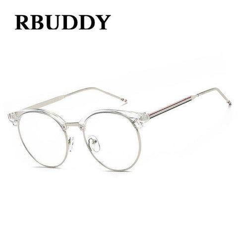 Planet Gates R4 Transparent Glasses Fake Computer Reading Glasses Clear Lens Men Women Optical Eyewear Metal Eyeglasses