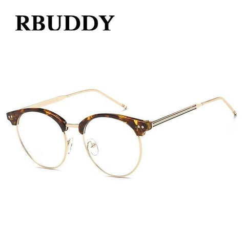 Planet Gates R5 Transparent Glasses Fake Computer Reading Glasses Clear Lens Men Women Optical Eyewear Metal Eyeglasses