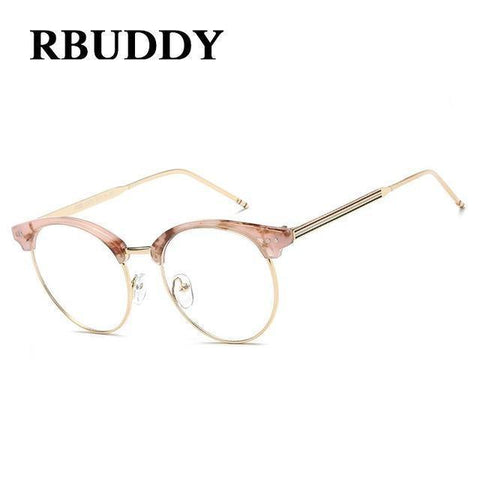 Planet Gates R7 Transparent Glasses Fake Computer Reading Glasses Clear Lens Men Women Optical Eyewear Metal Eyeglasses