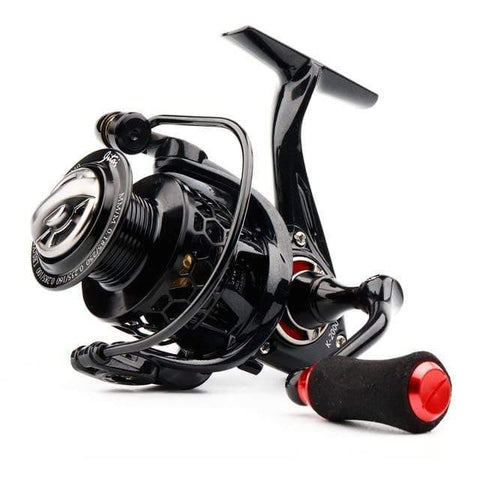 Planet Gates Red / 11 / 1000 Series Spinning Reel with Free Spool Lightweight CNC Aluminum Spool 10+1BBs Saltwater Wheel Carp Fishing Reels Carretilha