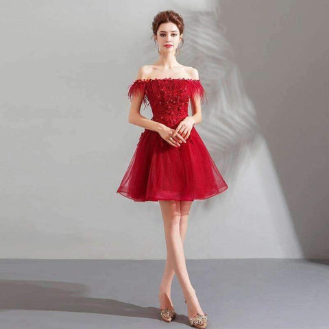 49cd3f48511 ... Image of Planet Gates Red   2   China Cocktail Dresses Red Boat Neck  Tassel Crystal ...