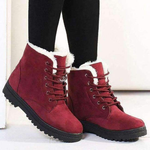Planet Gates Red / 5 Fashion warm snow boots 2018 heels winter boots new arrival women ankle boots women shoes warm fur plush Insole shoes woman