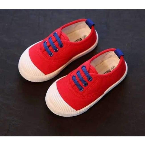 Planet Gates Red / 6 Kids Girls Boy's Fashion Canvas Shoes Breathable Sneakers Shoe For Children Size 21-30 Flats Heels Casual Shoes