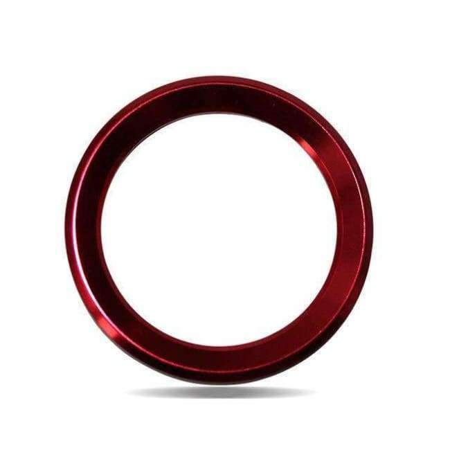 Planet Gates Red Car Styling Steering Wheel Logo Emblems Ring Decoration Sticker For Skoda Octavia 2 a 7 a7 a5 Rapid Fabia Superb Car Accessories