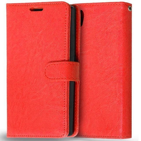 Planet Gates Red Case for Lenovo P70 Cover Luxury Wallet Leather Flip Phone Case For Lenovo P70 P70-A P70T P70-T P 70 Case With Card Slot Holder