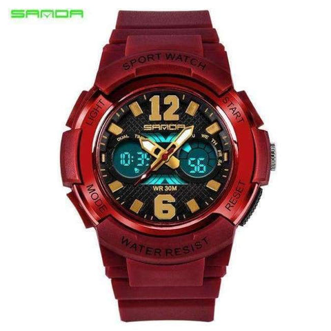 Planet Gates red Children's Watches LED Digital Watches Boys and Girls Students Multifunctional Waterproof Electronic Watch Relogio Masculino