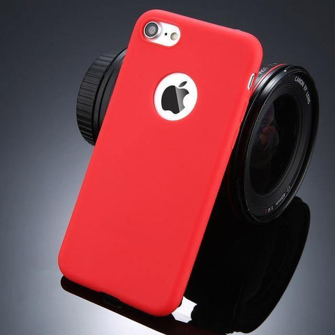 Planet Gates Rojo / Para iPhone 6 6s USLION Caja de teléfono en color caramelo para iPhone 7 Plus XS XR XS Máx. Silicio Suave TPU Contraportada Estuches para iPhone X 7 6 6S Plus 5 5S SE