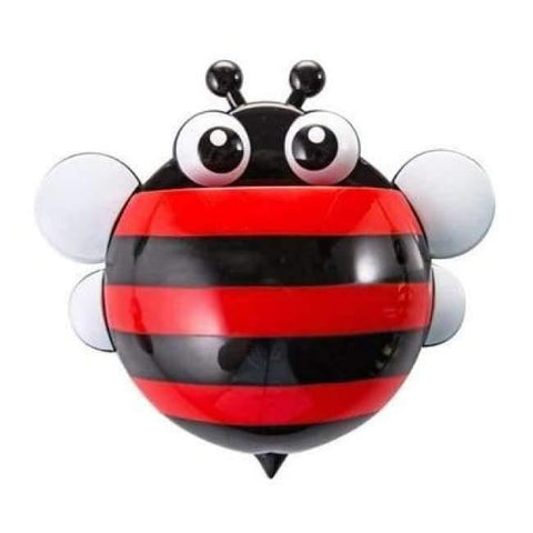 Image of Planet Gates red honeybee Bathroom Products Sets Cartoon Ladybug Snails Toothbrush Toothpaste Holder Wall Sucker Suction Hook Tooth Brush Holder