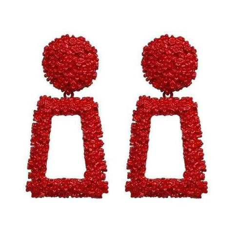Image of Planet Gates red JUJIA good quality wholesale women statement earring fashion geometric metal Earrings for women jewelry earring