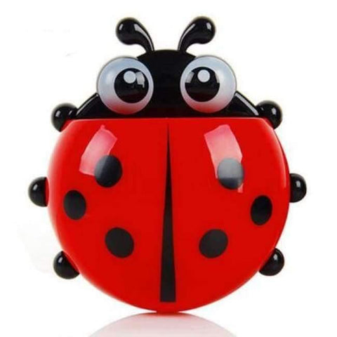 Image of Planet Gates red ladybug Bathroom Products Sets Cartoon Ladybug Snails Toothbrush Toothpaste Holder Wall Sucker Suction Hook Tooth Brush Holder