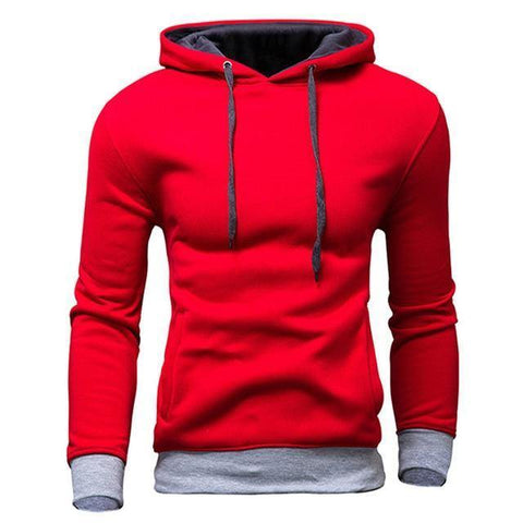 Planet Gates Red / M Men's Sweatshirt  New design Fashion Solid Hooded Casual Autumn Hoodies 4 Colors Male High Quality Pullover
