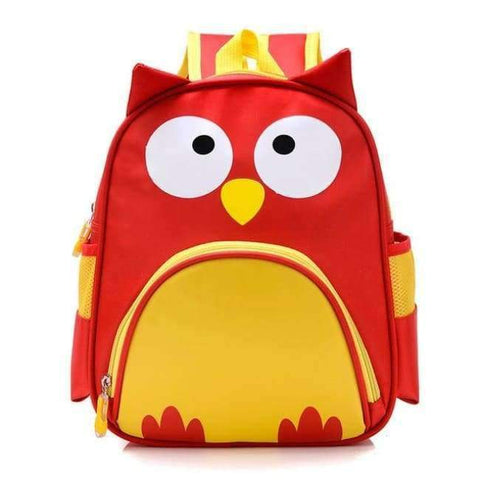 Planet Gates red owl Orthopedic Cute Owl Animals Baby Backpack Kids Toddler School Bags for Girls 3-5 years Children ZOO families Kindergarten Bag