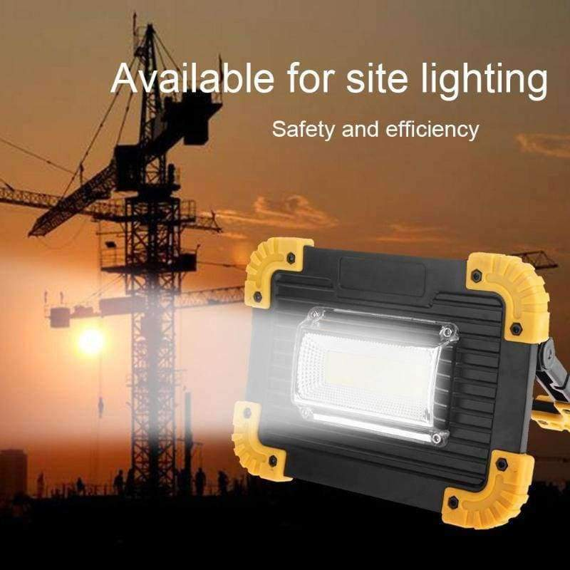 Portable 30W 400LM LED Lamp Spotlight Floodlight USB Charging/Battery  Powered Light Outdoor Camping Lawn Work Lamp