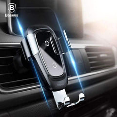Qi Wireless Charger Car Holder for iPhone XS Max XR Samsung