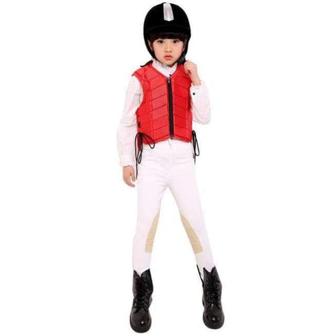 Planet Gates Red S Kids baby Safety Equestrian Horse Riding Vest Protective Body Protector Shock Absorption Jacket Sportswear Racing E $