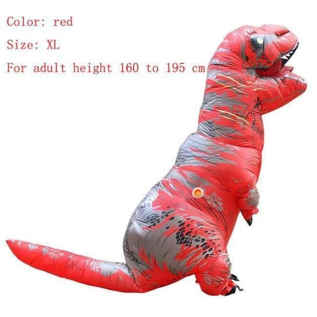 Planet Gates red size XL / T REX Adult  T-REX Inflatable Costume Christmas Cosplay Dinosaur Animal Jumpsuit Halloween Costume for Women Men