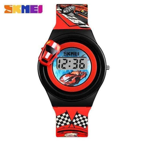 Planet Gates Red SKMEI 1376 Children Cartoon Creative Digital Watches Kids Fashion Car Outdoor Wristwatches For Boys Girls Student Casual Watch