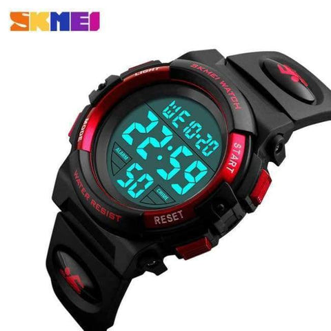 Planet Gates Red SKMEI Brand Children Watch Kids Outdoor Sports Watches Multifunctional Waterproof LED Digital Wristwatches For Boy&Girls Relogio