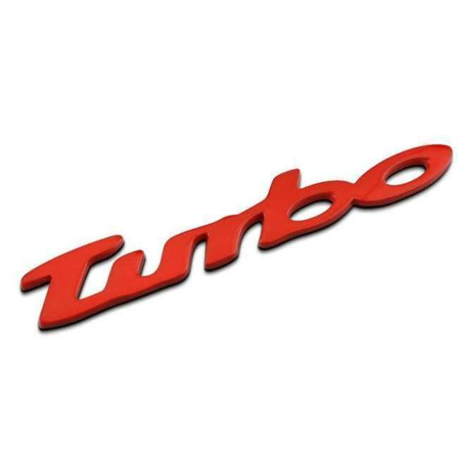 TURBO Logo Metal Sticker Custom Stereo Letter Motorcycle Car Stickers DIY  Emblem Sticker Car Styling Car Exterior Accessories