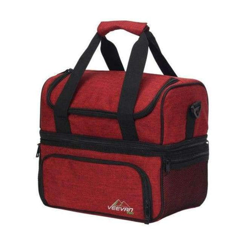 Image of Planet Gates Red VEEVANV Insulated Lunch Cooler Bags For Food Family Function Waterproof Picnic Large Storage Shoulder Bag Tote Messenger Bags
