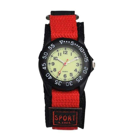 Planet Gates Red Watches Kid boy nylon Straps Wristwatch Children  Quartz Watch Cute Clock Montre rotary bezel analog watch kids 2018