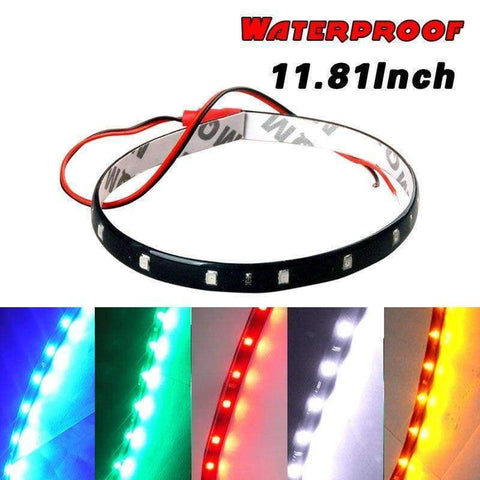 Planet Gates Roude wäiss Giel Rot Blo Gréng 15 SMD 30CM 2835 LED Strip Light Flexibel Car Decor Motor Laden Motorraddekoratioun