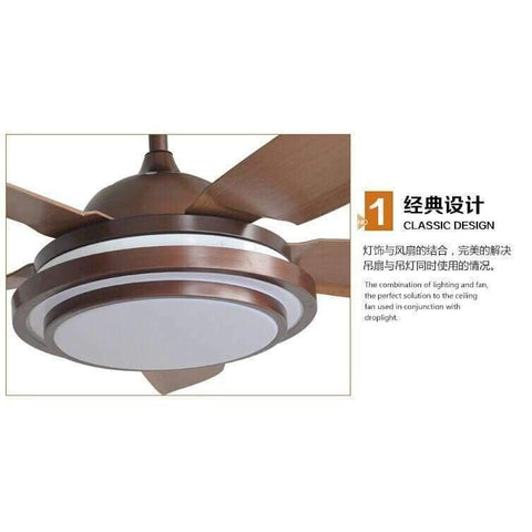 Image of Planet Gates Retro decorative ceiling LED Ceiling Fan With Lights Remote Control  110-240 Volt Fan Light Bulbs Bedroom Fan Lamp Free Shipping