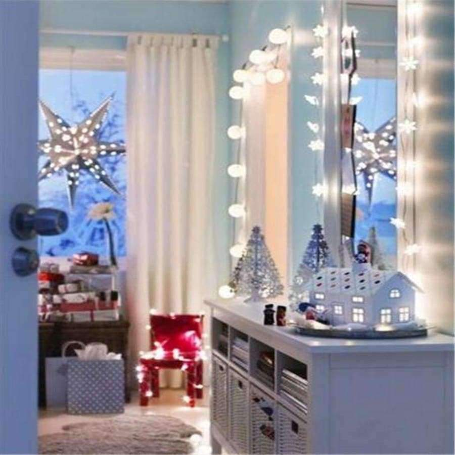 Planet Gates RGB / 220V AC220V 10M 50LED Christmas lights snowflake lamp holiday lighting for outdoor/wedding party decoration curtain string lights