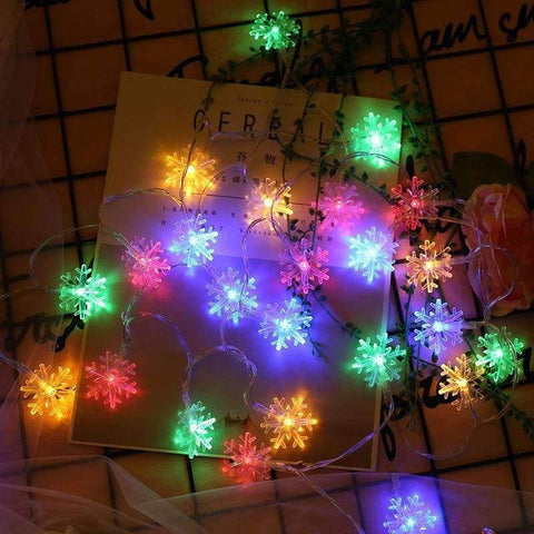 Planet Gates RGB / 5w / 10m80 lights Led holiday lights Christmas pendants led snowflake string indoor and outdoor decorative color light battery section 5 m