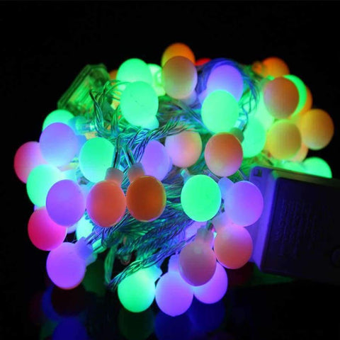 Planet Gates RGB YINGTOUMAN 10m 80led String Lights AC200V Ball Lighting Holiday Decoration Lamp Festival Christmas Light