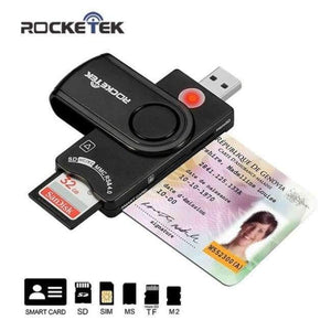 Planet Gates Rocketek Same Time Read 2 Cards Usb RT-SCR10 Memory Card Reader Adapter For SD/TF Micro SD Computer Laptop Accessories