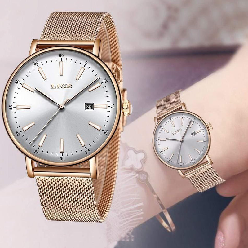 Stainless Steel Watches Women Top Brand Luxury Casual Clock