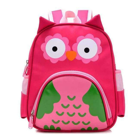 Planet Gates rose owl Orthopedic Cute Owl Animals Baby Backpack Kids Toddler School Bags for Girls 3-5 years Children ZOO families Kindergarten Bag