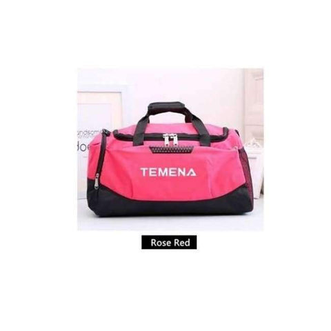 Planet Gates Rose Red New Men Sport Gym Bag Lady Women Fitness Travel Handbag Outdoor Bags with Separate Space For Shoes sac de sport