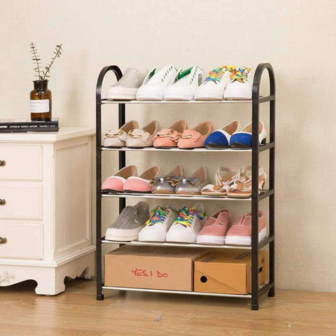 Planet Gates S 3layers black Multiple layers Shoe Rack Plastic parts Steel Pipe Shoes Shelf Easy Assembled Storage Organizer Stand Living Room Furniture