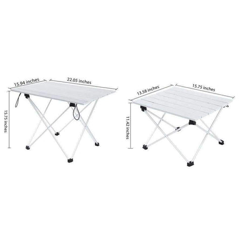 Planet Gates S Aluminum Alloy Table Foldable Desk Outdoor Camping Stable Portable mini BBQ Picnic Lightweight Anti-Skid Rectangle Table