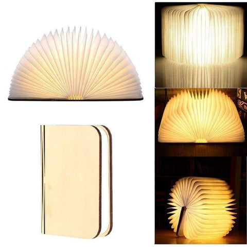 Image of Planet Gates S Rechargeable Wooden Book Light USB LED Night Light Foldable Table Lamp Luminaria Bedroom Nightlight Bedside Booklight Home Decor