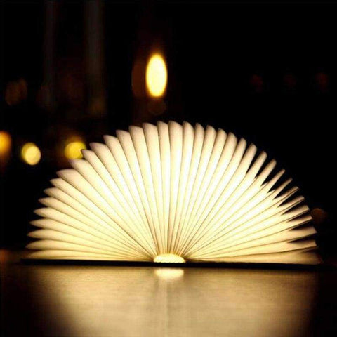 Planet Gates S Rechargeable Wooden Book Light USB LED Night Light Foldable Table Lamp Luminaria Bedroom Nightlight Bedside Booklight Home Decor