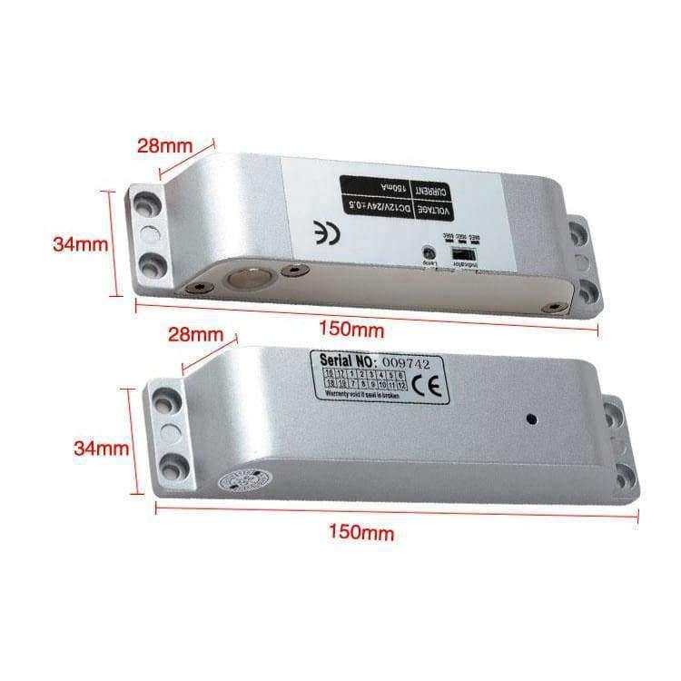 Safe Electric Bolt Mortise Door Lock Electronic Drop Lock with time delay  Normally Close for Access Control Security System