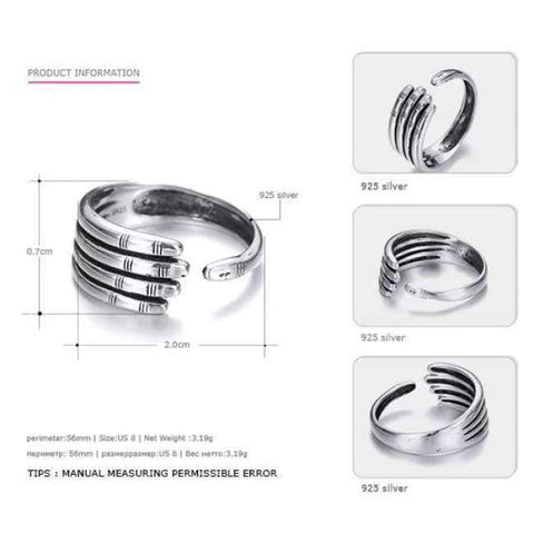 Planet Gates Say You Say Me 925 Sterling Silver Hand Rings Wedding&Engagement Jewelry Unisex Opening Ring Silver 2018 Fashion Jewelry