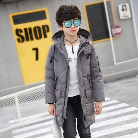 Image of Planet Gates see chart / 10 Winter Clothes for Boys Feather Down Coats Hooded Long Parkas Teenage Boys Winter Clothes age 10 12 14 16 years Winter Kids Coat