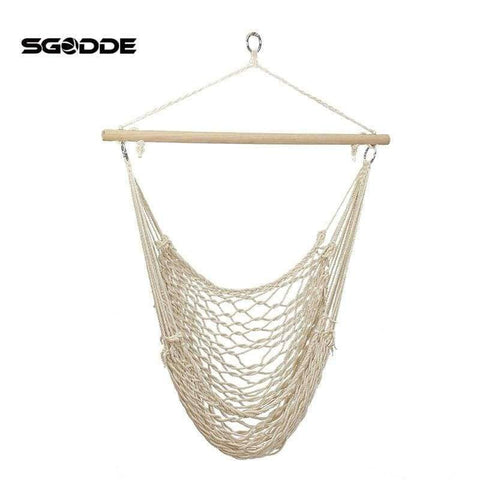 Image of Planet Gates SGODDE Outdoor Hammock Chair Hanging Chairs Swing Cotton Rope Net Swing Cradles Kids Adults Outdoor Indoor Hot Sale
