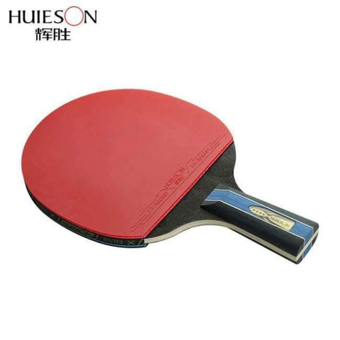 Image of Planet Gates Short Handle Short or Long Handle Shake-hand Table Tennis Set Red and Black Table Tennis Paddle Table Tennis Racket with Case