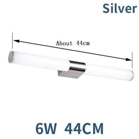 Planet Gates Silver 6W 44CM / Cold White LED Wall Lamp Mirror Light Telescopic Waterproof Bathroom 6W 44CM 8W 55CM Indoor Lighting Fixture Decor Makeup Dresser 220V