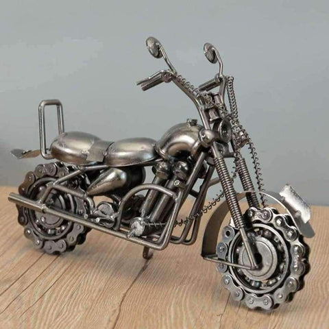 Image of Planet Gates silver Home Decoration Decoration Wrought Iron Large Motorcycle Model Accessories Office Table Interior Home Decor  WL5111441