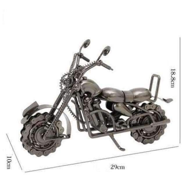 Planet Gates silver Home Decoration Decoration Wrought Iron Large Motorcycle Model Accessories Office Table Interior Home Decor  WL5111441