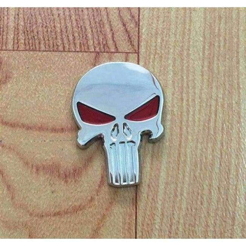 Image of Planet Gates silver red eye Automobile Motorcycle Exterior Accessories Car Body Skullhead Punisher Styling Stickers