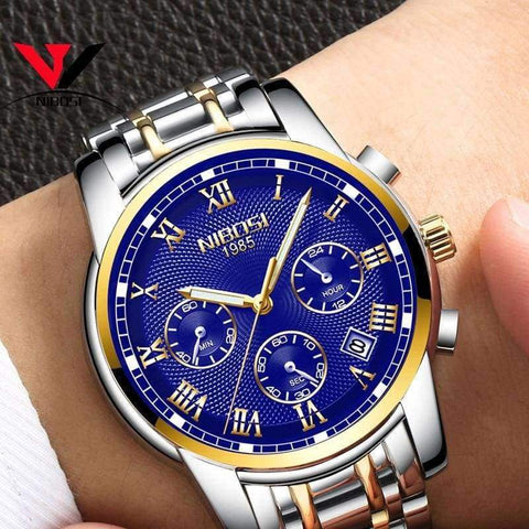 Planet Gates silver white steel Relogio Masculino NIBOSI 2018 Mens Watches Top Brand Luxury Watch Men Casual Date Business Male Wristwatches Clock Montre Homme